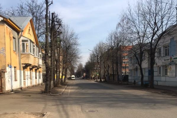 Улицы Ярославля обезлюдели
