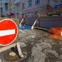 На улице Крупской изменится движение из-за замены трамвайных путей