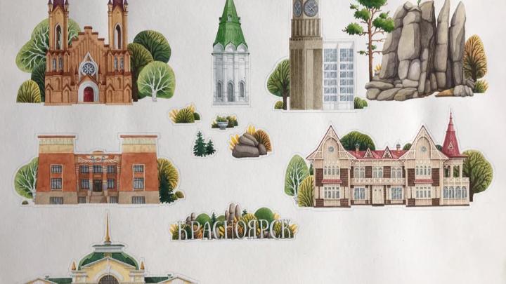 Девушка побывала в Красноярске, влюбилась в него и создала концепцию сувениров для города
