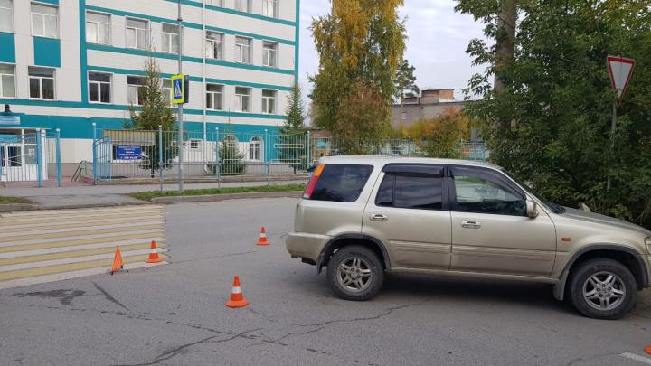 В Новосибирске напротив школы сбили двух мальчиков