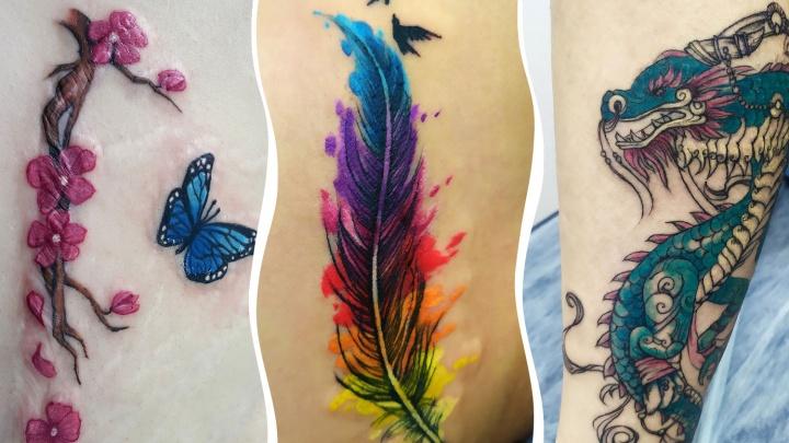 Татуировка на шрамах: разглядываем рисунки, превратившие дефект на теле в произведение искусства