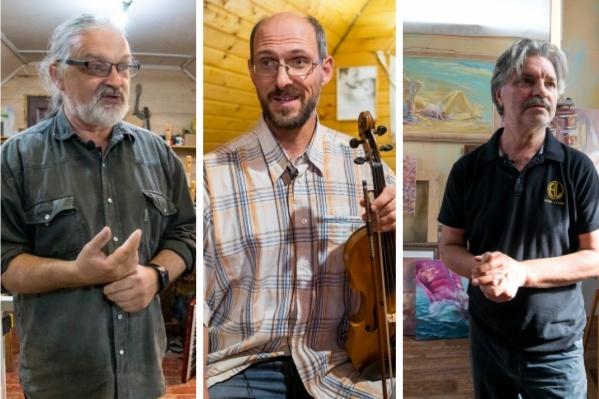 Марис, Димитр и Игорь занимаются творчеством, живя в деревне