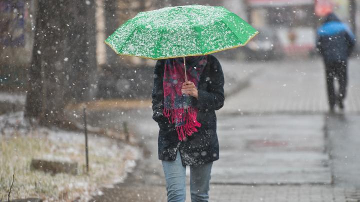 На этих выходных в Екатеринбурге будет дождь с мокрым снегом