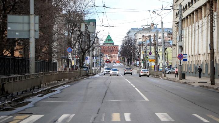 Видео дня. Смотрим, как выглядит Нижний Новгород, перешедший в режим самоизоляции