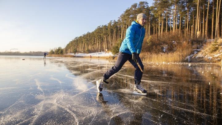 Чистый, как стекло: ярославский Байкал покрылся прозрачным льдом