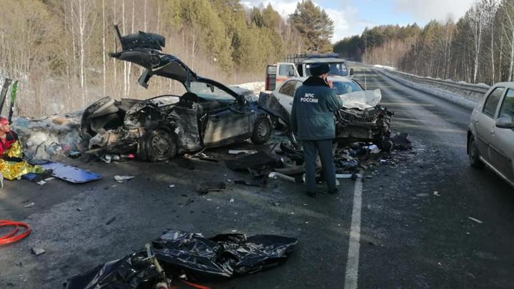 Массовая смертельная авария в Башкирии: столкнулись Daewoo Nexia, Ford Focus и SKODA Octavia