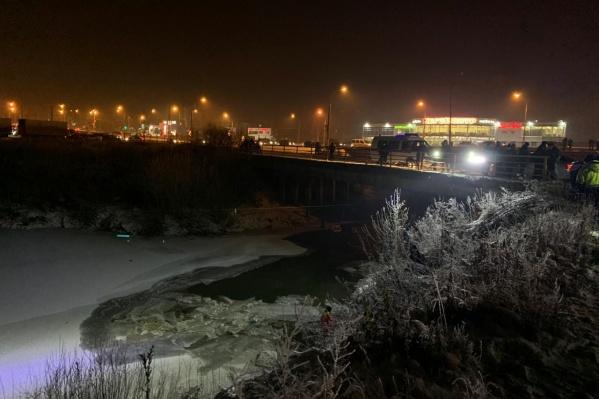 Место происшествия на речке Мулянке