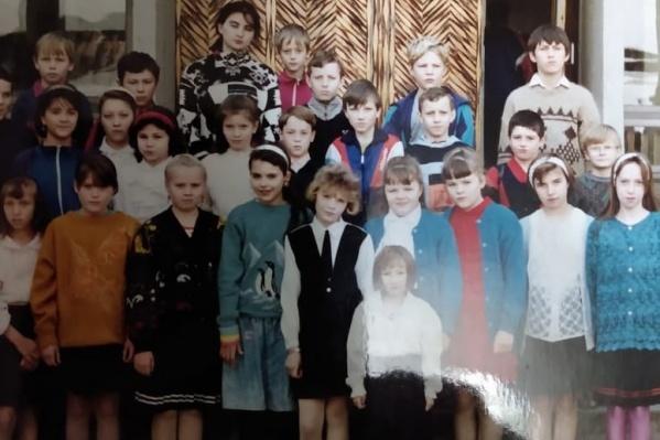 Дмитрий Баланин с одноклассниками, пятый класс