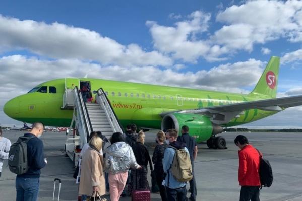 Самолет вылетел в Москву, но вскоре вернулся обратно в Кольцово