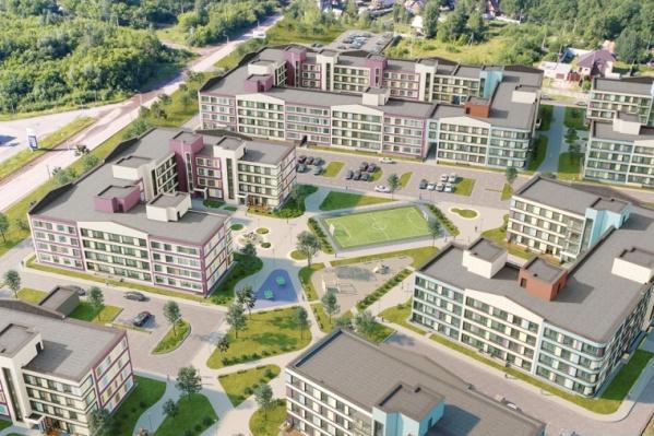 В новом жилом комплексе на первых этажах предусмотрены квартиры с террасами