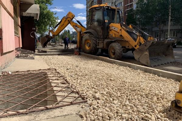 В этом году рабочие отремонтируют участок в 300 погонных метров