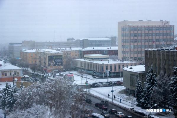 В Омске и области в начале недели обещают небольшой снег