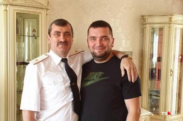 Генерал-майор Виктор Теряев с сыном Виталием