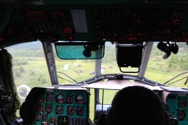 Поиски велись с вертолета