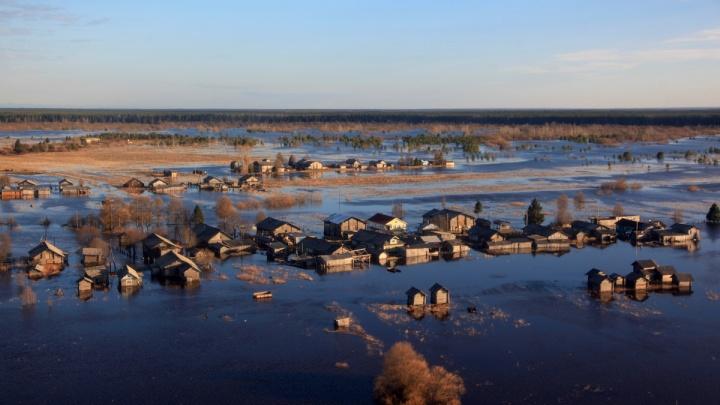 В Пинежском районе паводок затопил две деревни — Кевролу и Шардонемь: смотрим на них с высоты