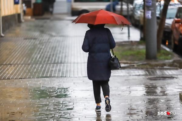Все выходные в Ростове будет идти дождь