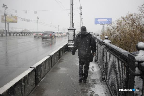 Следующие два дня в Омске и области будет идти мокрый снег