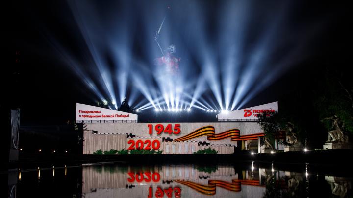 На Мамаевом кургане Волгограда отрепетировали акцию «Свет Великой Победы»: смотрим видео