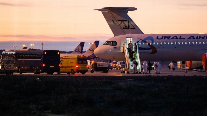 В Екатеринбург прибыл вывозной рейс из Еревана, самолет опоздал больше чем на четыре часа