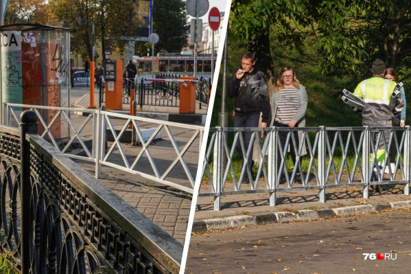 В Ярославле «озаборили» не только крупные проспекты и шоссе, но и уютный центр в зоне ЮНЕСКО