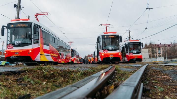 Впервые за 29 лет в Омск привезли 12 новых трамваев: смотрим, как они выглядят внутри и снаружи