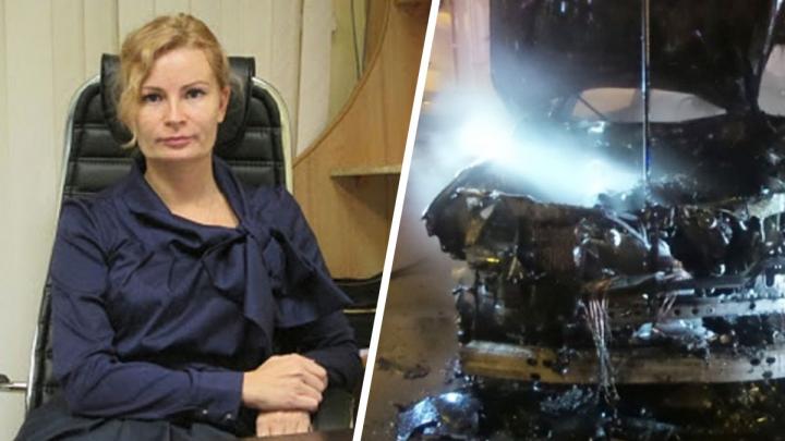В Lexus с «блатными» номерами, который сбил пешехода и загорелся, погибла гендиректор «Росоценки»