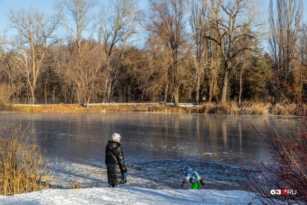Парк хорош для прогулок, но зимой посещение ограничено
