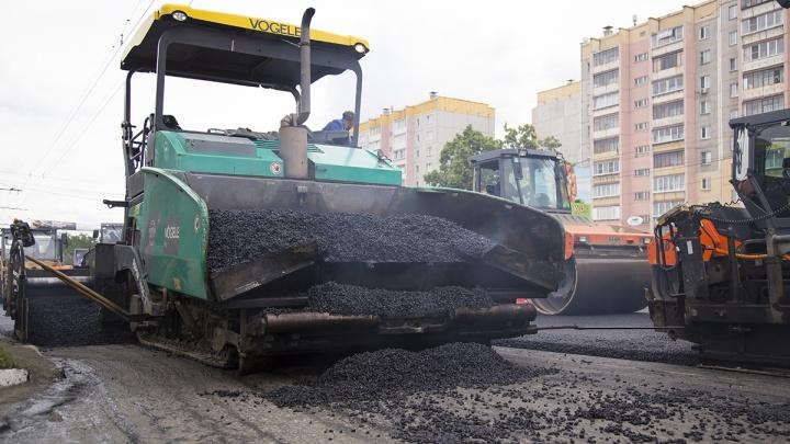 Пять улиц Челябинска попали в список дорожных работ на выходные