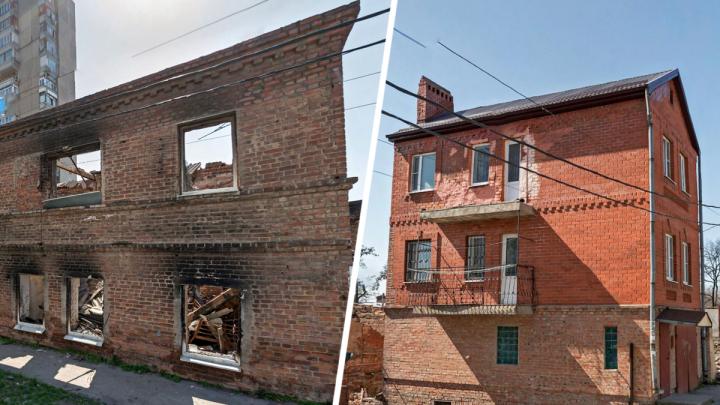 Администрация Ростова отобрала у владельцев дом, пострадавший от пожара на Театральном спуске
