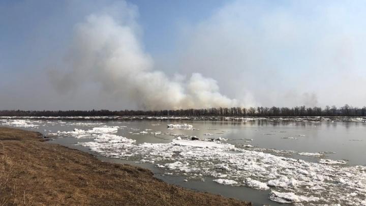 В МЧС рассказали, почему над Омском стоит дым