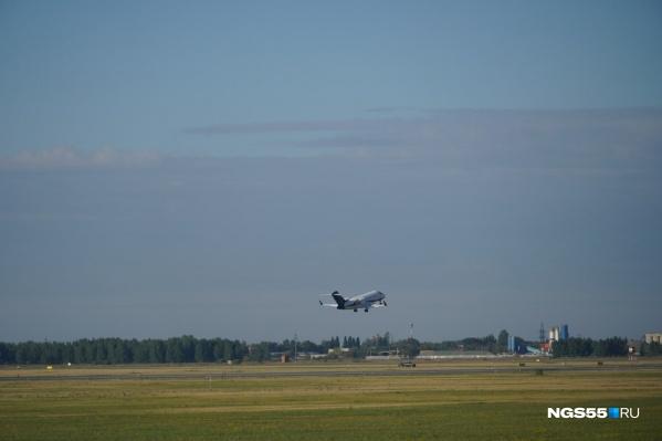 Лайнер Bombardier Challenger вылетел в Германию