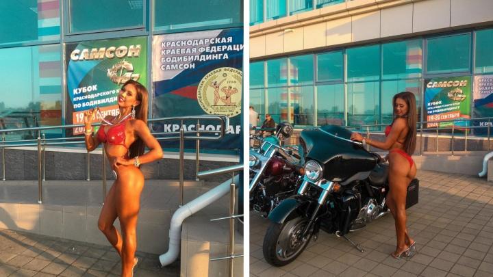 Красавица-спортсменка взяла главный приз на соревнованиях по фитнес-бикини в Краснодаре
