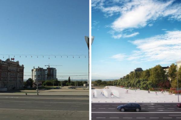 Проект реконструкции площади обсуждают в Ростове больше трех лет