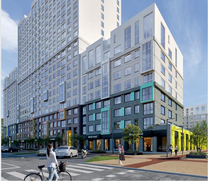 На пересечении улиц Победы и Народного Фронта на месте частного сектора началось строительство нового жилого комплекса