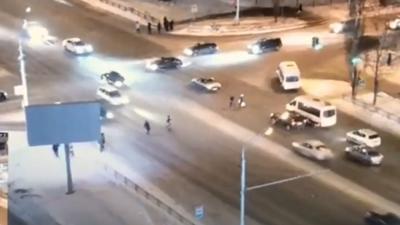 «Был сбой светофора»: уфимка — о пешеходах, спровоцировавших ДТП на переходе