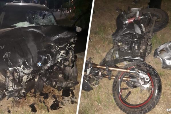 Девушка за рулем мотоцикла погибла в аварии
