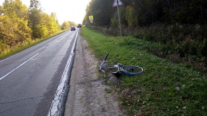 «Сбил торчащей палкой»: под Ярославлем грузовик наехал на дедушку-велосипедиста