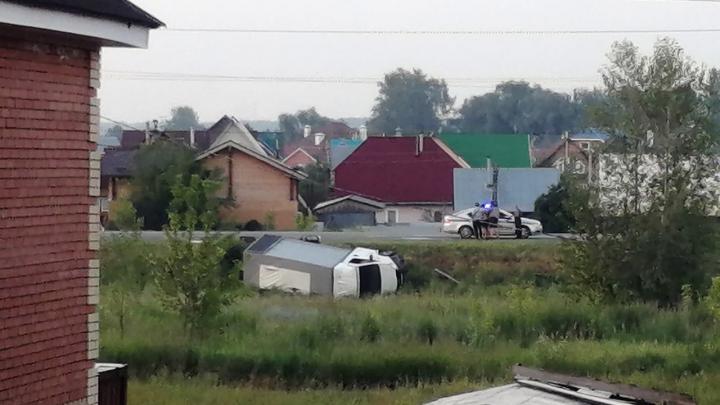 За сутки в кювет с новосибирских трасс слетели грузовик и две легковые