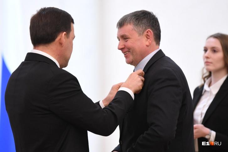 Также был награжден ректор УрФУ Виктор Кокшаров