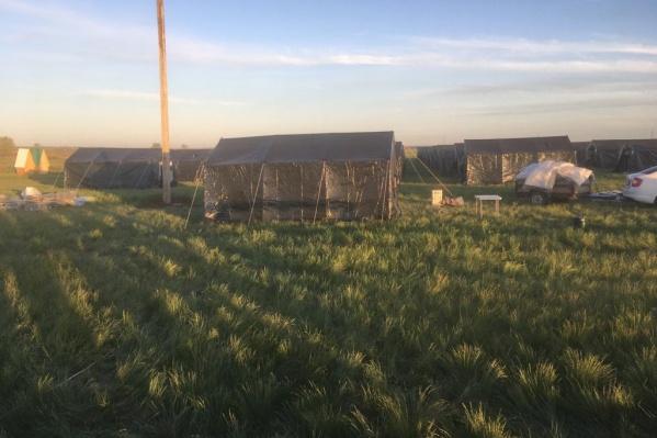 Вот так выглядел лагерь мигрантов