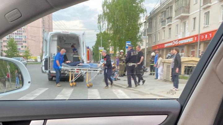 В Пионерском водитель ВАЗ сбил байкера и скрылся с места аварии