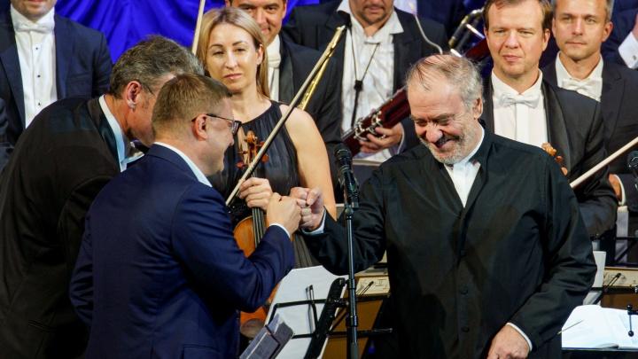 Гергиев дал в Челябинске концерт для медиков и волонтёров. Не обошлось без вип-тусовки