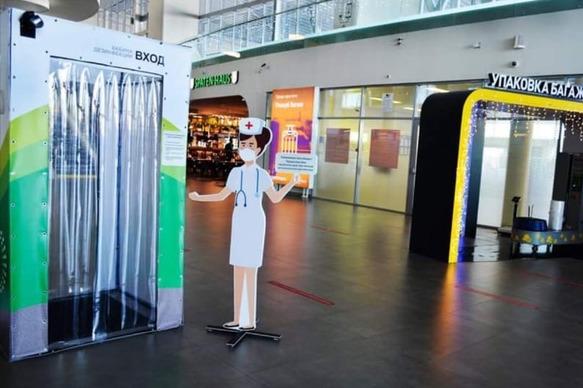 В аэропорту Курумоч установили кабину дезинфекции