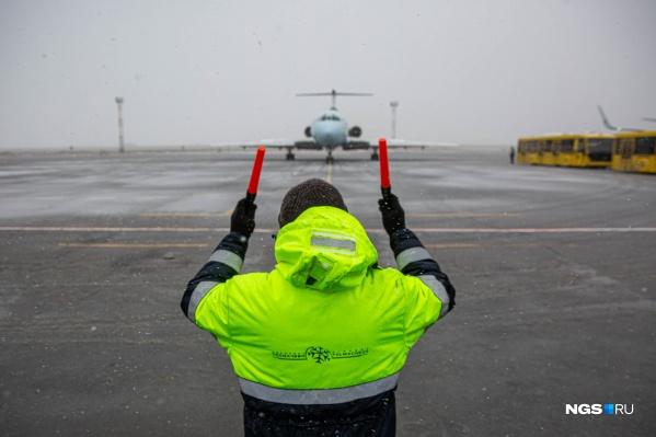 Самолет останется в Новосибирске