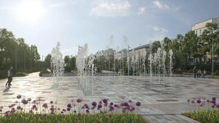 Эскиз: как будет выглядеть сухой фонтан на месте снесенного рынка на Авроре