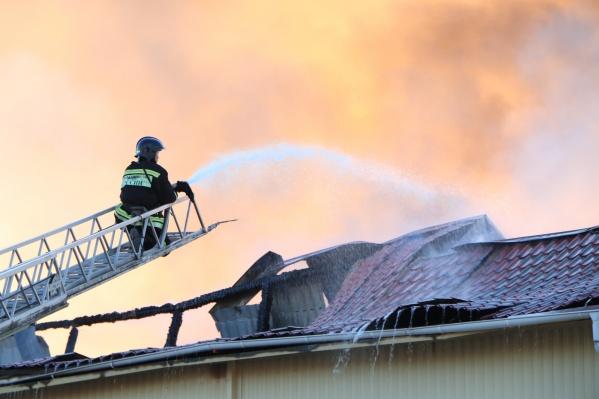 Пожар произошел в 18:30