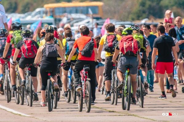 Велосипедистам предстоит несколько дней колесить по Самаре