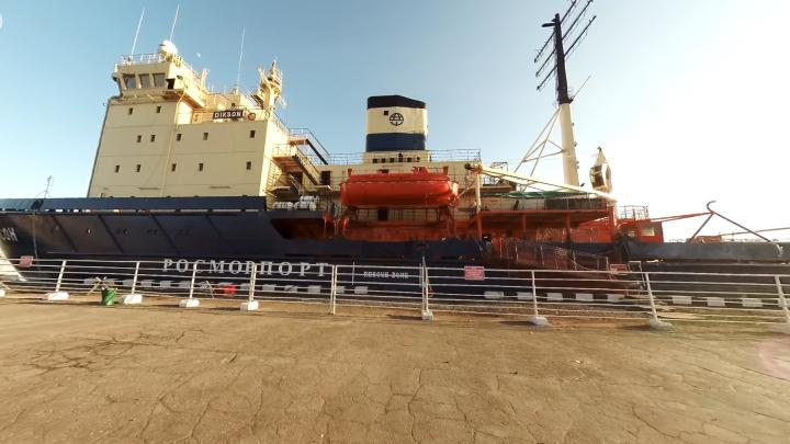 Зайти в каюты и встать на место капитана: гуляем по ледоколу «Диксон» в онлайн-формате