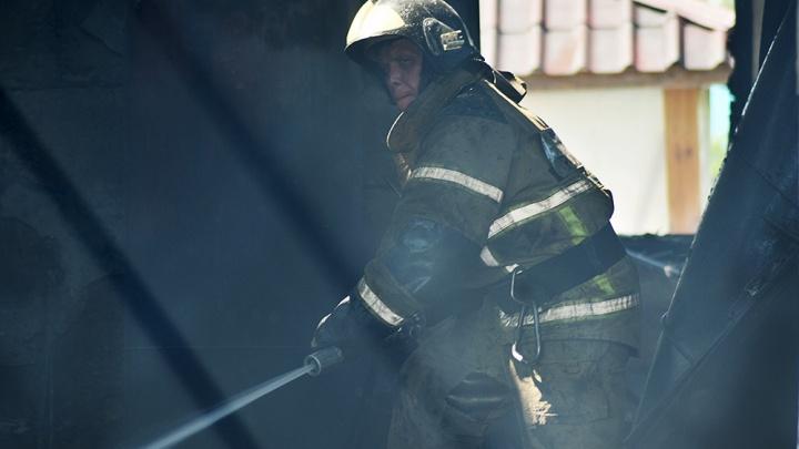 В тюменском селе мать с сыном пострадали при пожаре