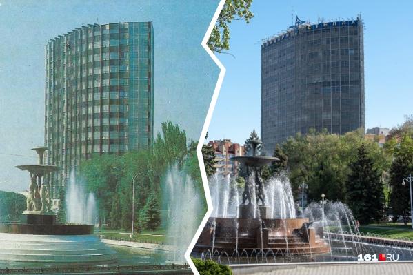 Первое фото сделано в 1986 году — почти 35 лет назад. Есть места, которые практически не изменились в Ростове, правда?